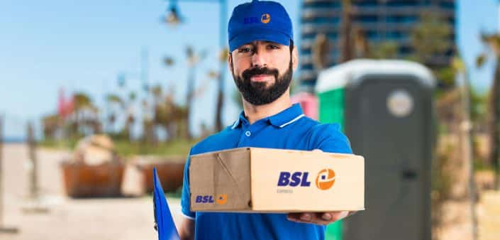 BSL Express Man Standing with a Box